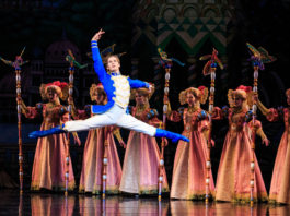 Soloist Alexander MacFarlan in Ballet West's The Nutcracker 2 - Photo by Luke Isley