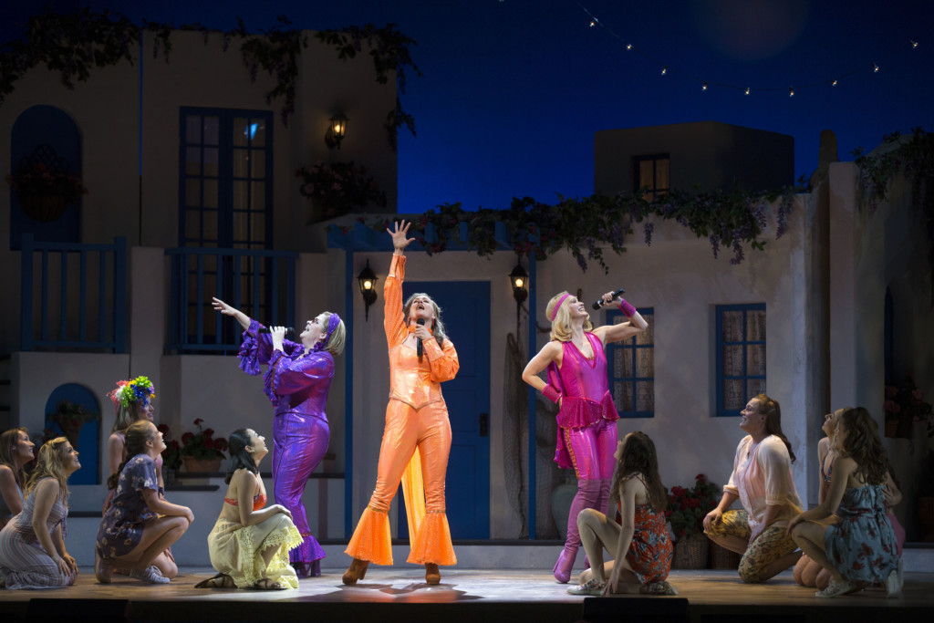 The cast of Mamma Mia!, courtesy of PTC