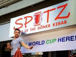 free pita and hummus world cup at spitz