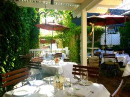 Fresco Italian Café's patio in Salt Lake City.