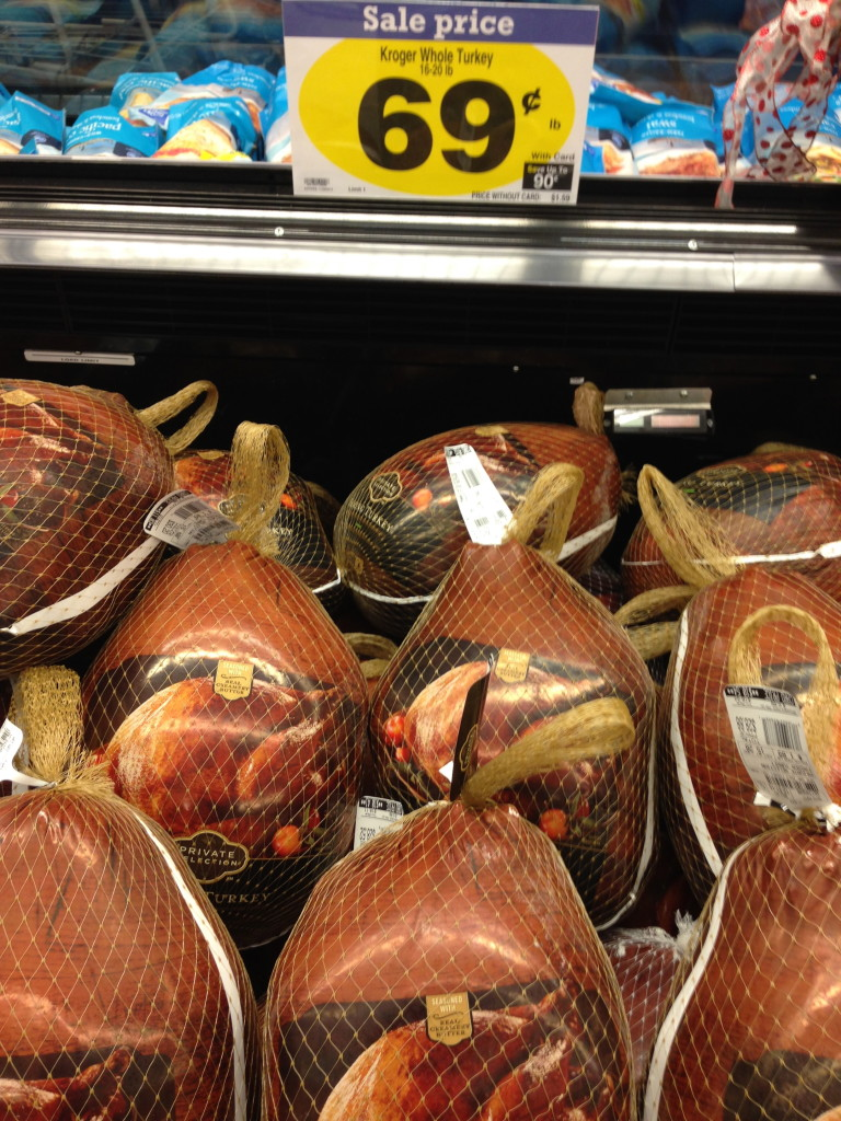 turkey for $0.69 per pound
