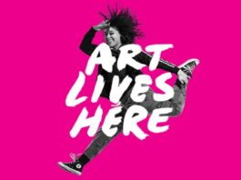art lives here pink logo