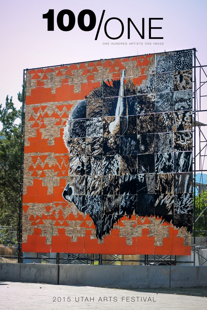 Bison 100/ONE Mural. Mason Fetzer. Utah Arts Festival 2015.