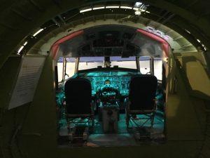 the C-131 cockpit