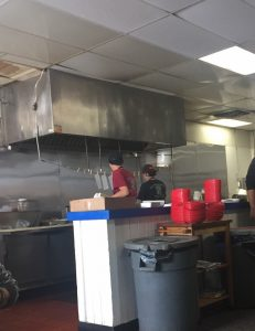 Prep/work kitchen inside The Philedelphian