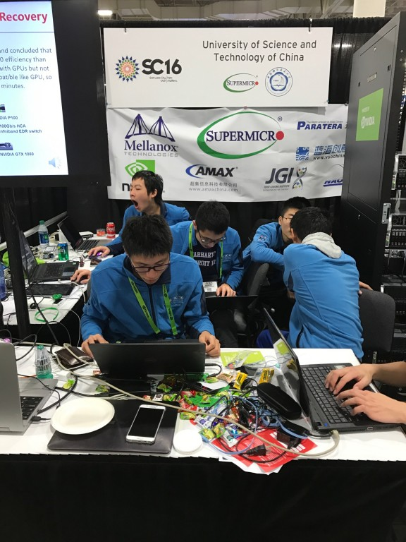 University of Science and Technology of China team, winners of SC16's Student Cluster Competition.