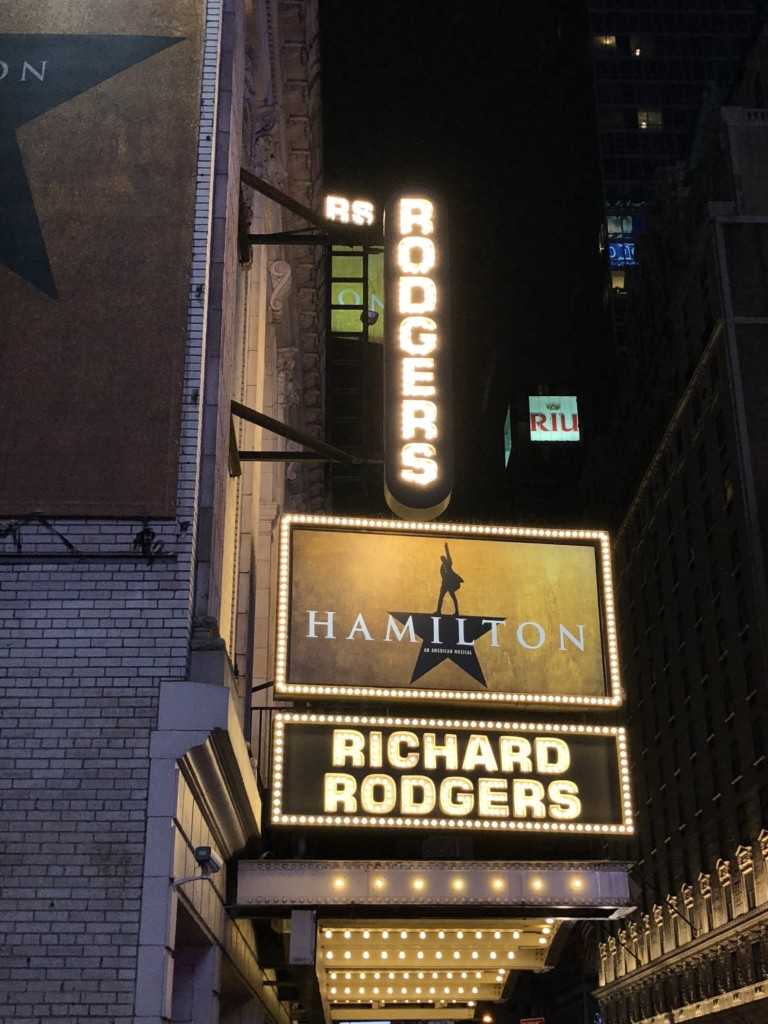 Hamilton in New York at the Richard Rodgers