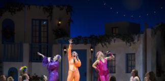 The cast of Mamma Mia!, courtesy of PTC